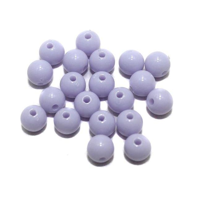 400 Acrylic Round Beads Violet 5mm