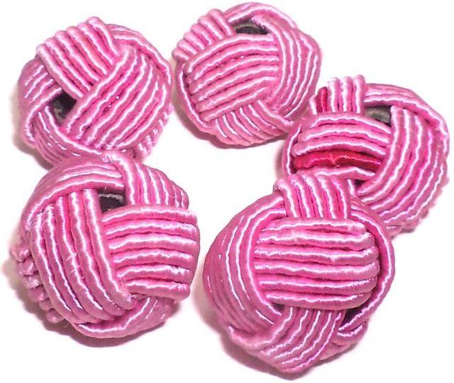 10 Crochet Round Beads Pink 20 mm