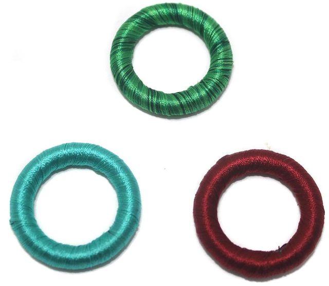 20 Crochet Rings Assorted 30 mm