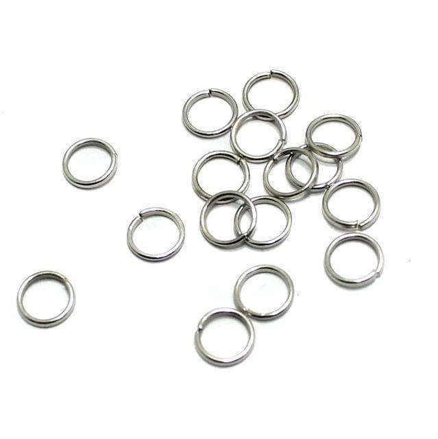 100 Gm Metal Nickle Silver Jump Rings 6 mm