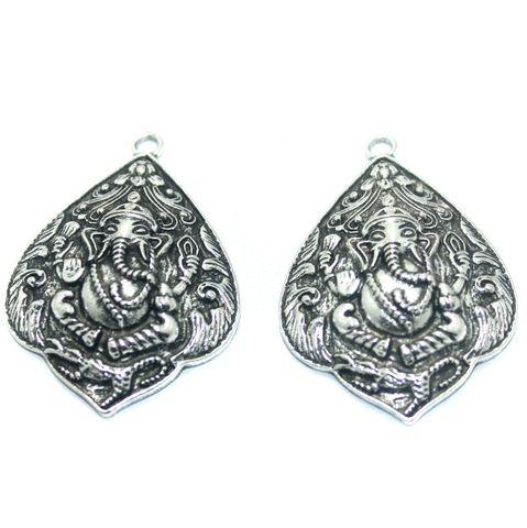 10 Pcs. German Silver Pendant, Size-54x37mm