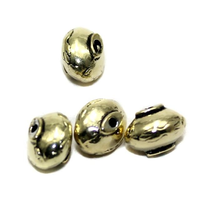 20 German Silver Oval Beads 7x9mm
