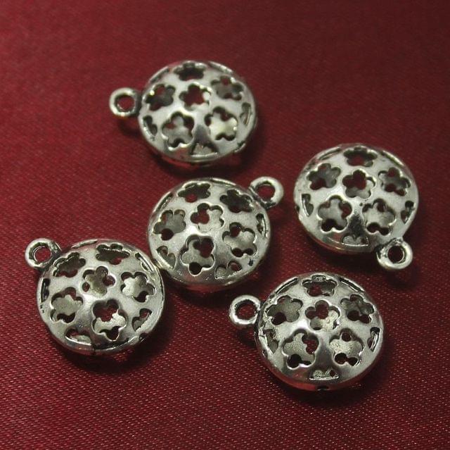 25 Pcs. German Silver Charms 16 mm