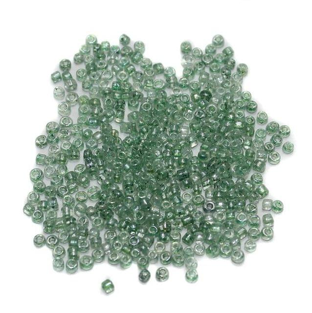 Seed Beads Teal Green Luster (100 Gm) , Size 11/0