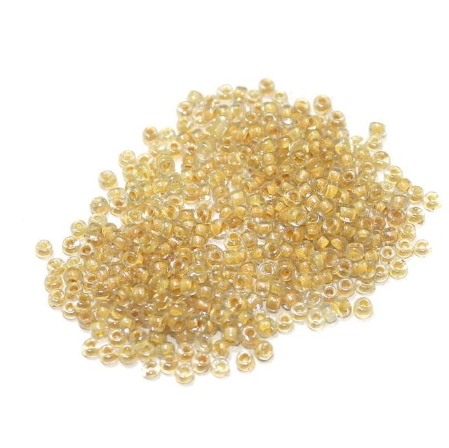 100 Gm Seed Beads Inside Color Yellow, Size 11/0