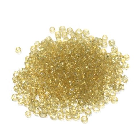 100 Gm Seed Beads Trans Topaz, Size 11/0