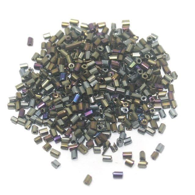 100 Gm 2 Cut Seed Beads Metallic, Size 11/0