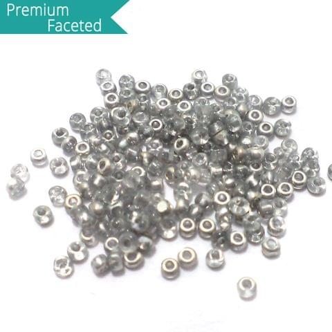 500 Gm Faceted Seed Beads Metallic Silver 11/0 (2mm)