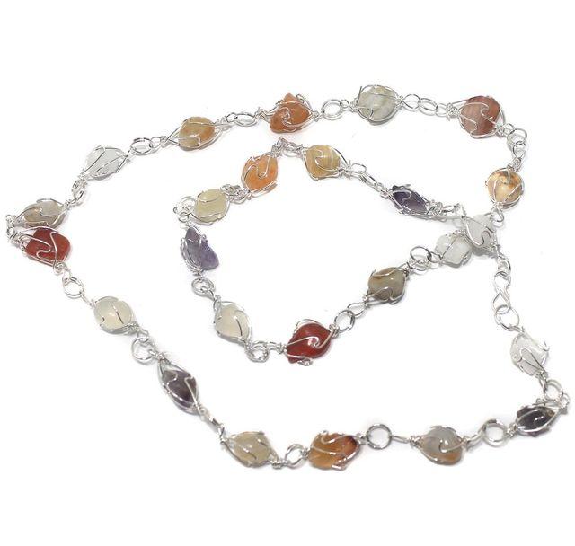1 String Onyx Stone Chain 18 Inch