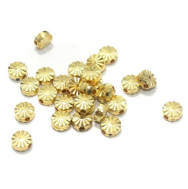 100 Gm CCB Disc Beads Golden 6 mm