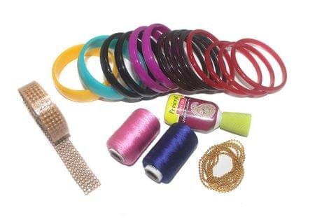 Beadsnfashion Silk Thread Jewellery Bangles Making DIY Kit