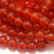 1 String Glass Drop Beads Orange 10 mm