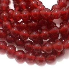 1 String Glass Drop Beads Red 10 mm
