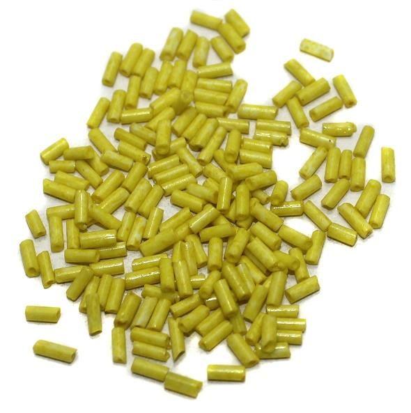 Seed Bugles Beads Yellow (100 Gm), Size 11/0