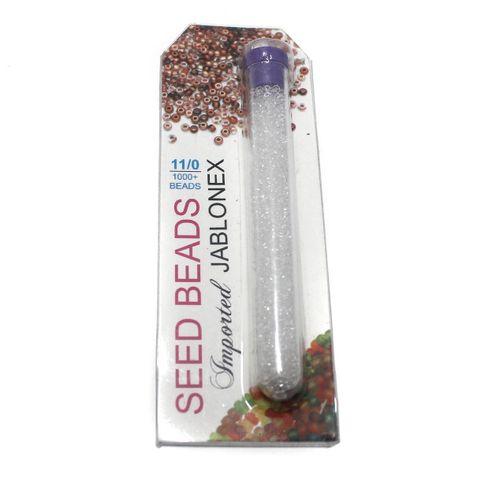 Preciosa seed Beads Trans White Size 11/0