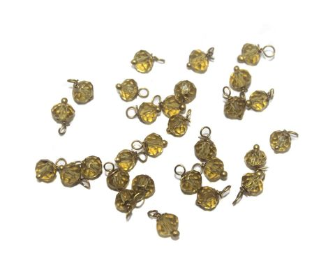 200 Faceted Loreal Beads Trans Topaz 6 mm