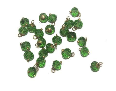 200 Faceted Loreal Beads Trans Green 8 mm