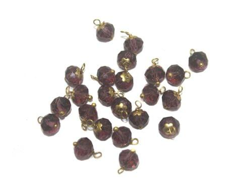 200 Faceted Loreal Beads Trans Purple 8 mm