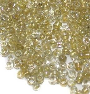 Inside Color Seed Beads Yellow Luster (100 Gm), Size 11/0
