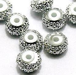 50 Silver Finish Acrylic Beads 8mm