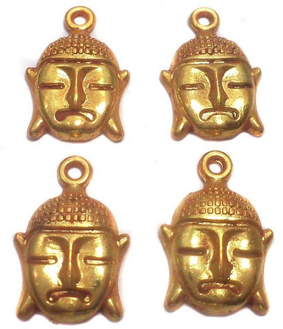 10 German Silver Budha Charms 10x10 mm