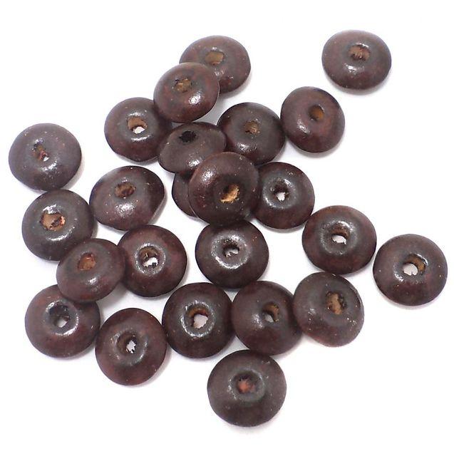 165+ Wooden Donut Beads Dark Brown 13x5mm