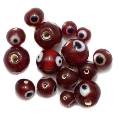 250+ Evil Eye Round Beads Red 4-8mm