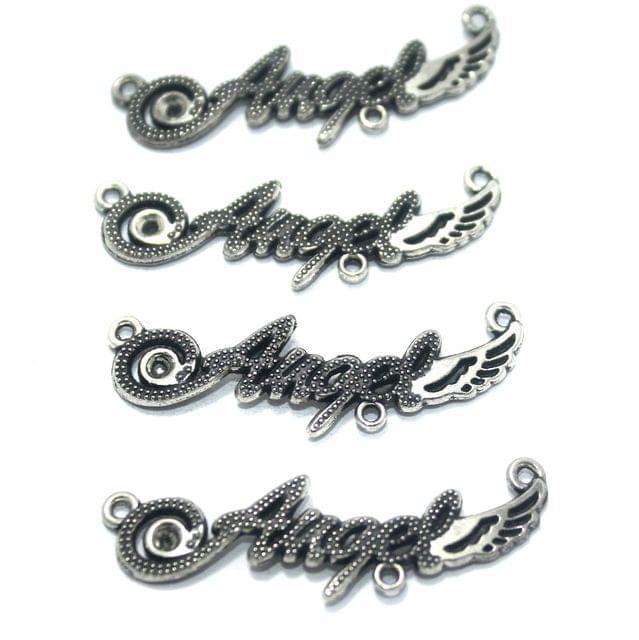 20 Pcs. German Silver Pendant, Size-43x10mm