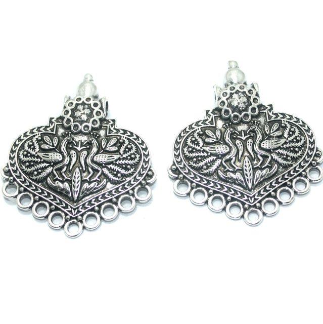 5 Pcs. German Silver Pendant, Size56x47mm
