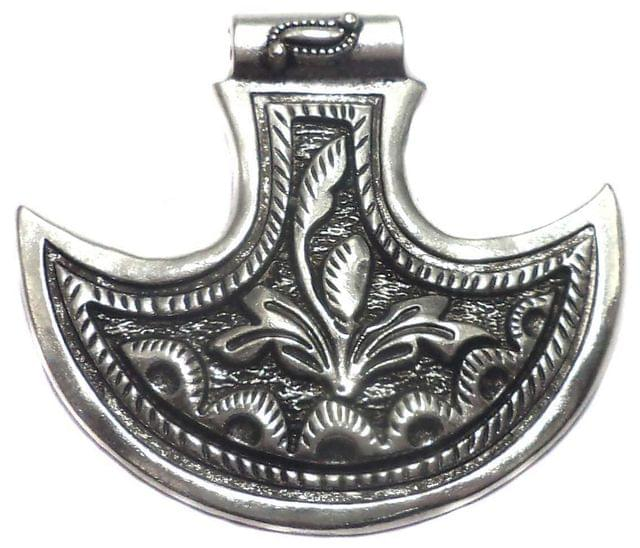 2 German Silver Pendant 45x50mm