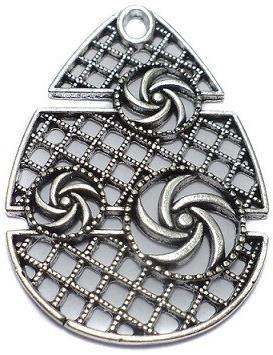 2 German Silver Pendant 50x33mm
