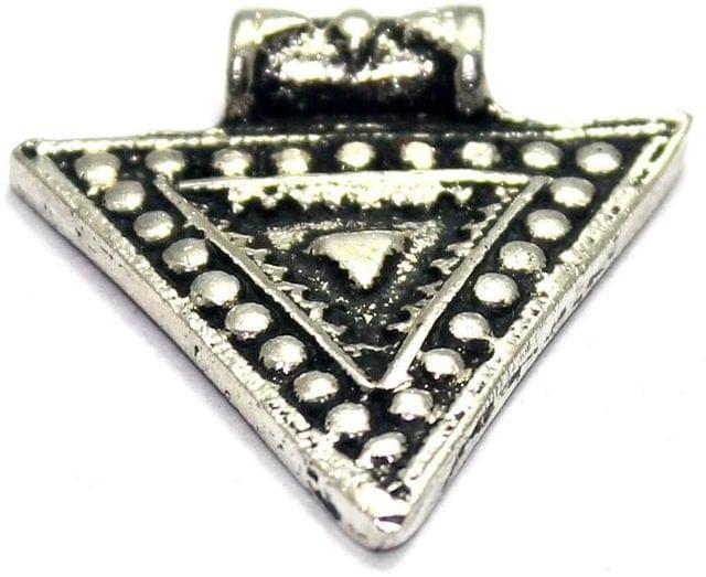 4 German Silver Pendant Golden 31x29mm