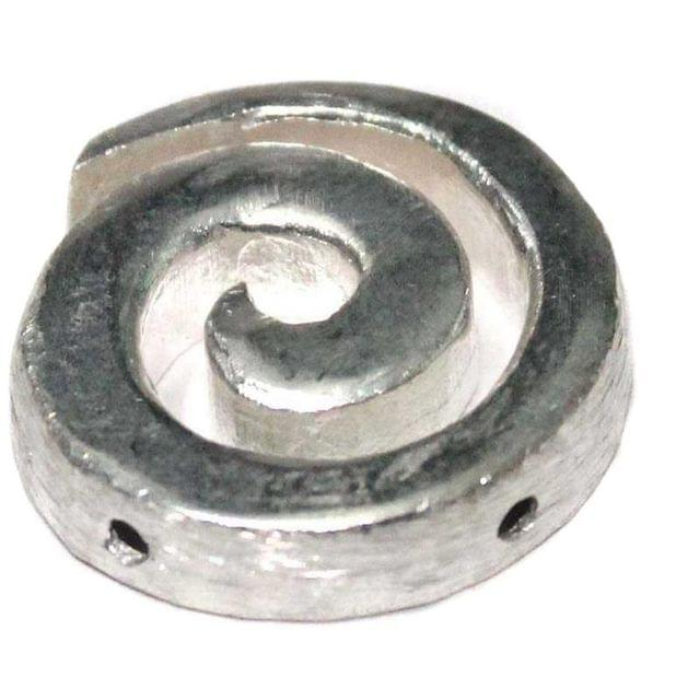 2 German Silver Pendant Spiral [Big] 38x35mm