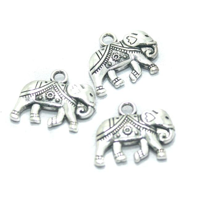 25 Pcs. German Silver Charms, Size-20x16mm