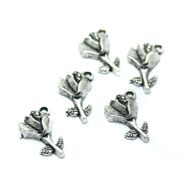 50 Pcs. German Silver Charms, Size-14x8mm
