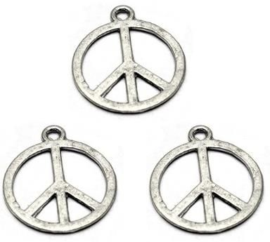 5 German Silver Pendant Charm Round 20mm