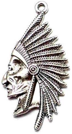 2 German Silver Egyptian Pendants 50x25mm