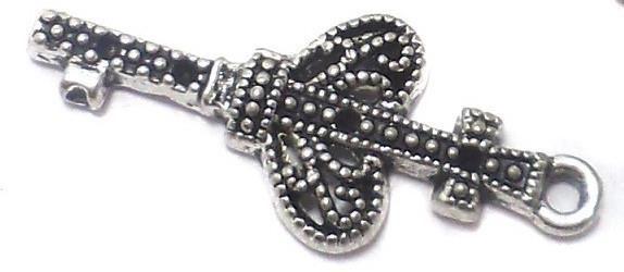 10 Pcs. German Silver Key Charms 29x12mm
