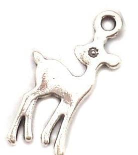 20 Pcs. German Silver Deer Charms 21x11mm