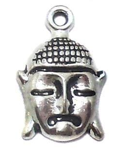 10 Pcs. German Silver Buddha Charms 18x11mm