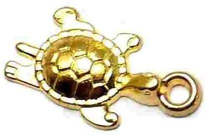 10 German Silver Turtle Charms 20X10mm