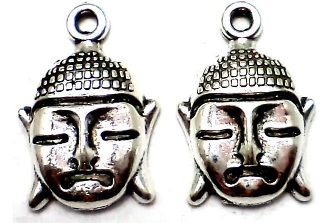 30 German Silver Buddha Charms 17X10mm