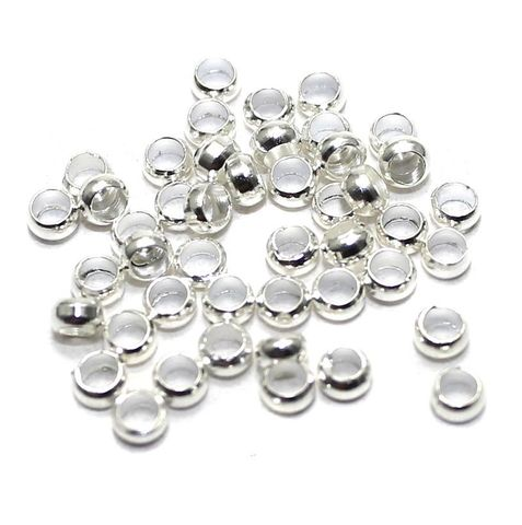 720+ Crimp Beads Silver 2 mm