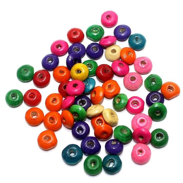 690+ Wooden Donut Beads Assorted 8mm