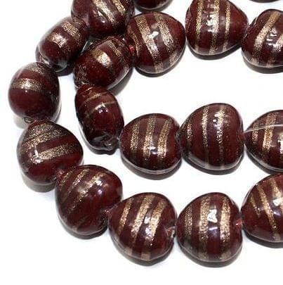 25+ Swirl Heart Beads Red 16x10mm