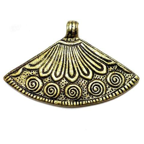 Antique Golden Metal Pendant 75x48mm