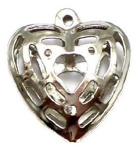 25 Metal Heart Charms 20 mm