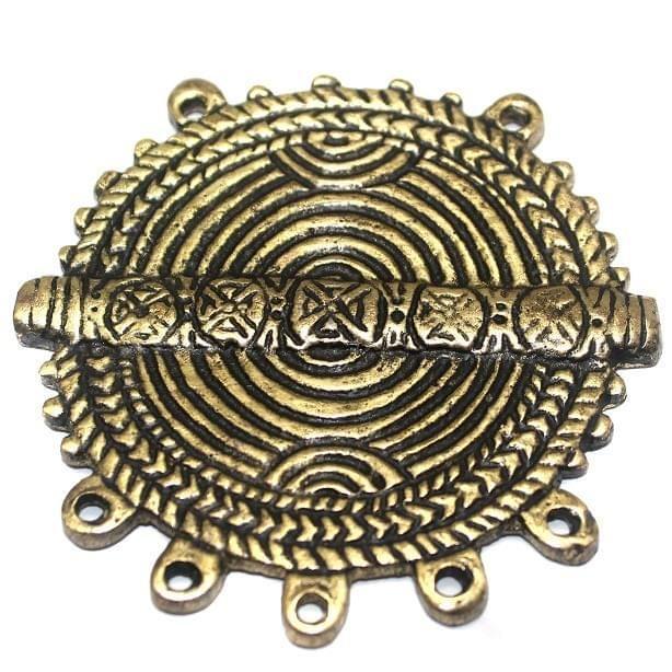 Metal Pendant Golden 70mm