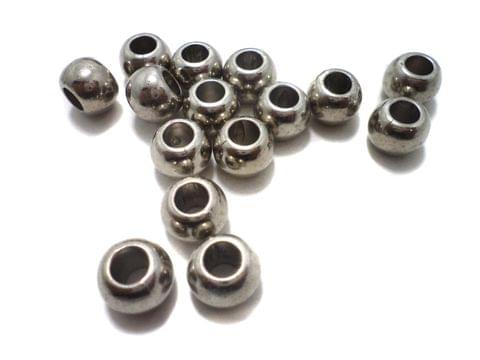 95+ CCB Tyre Beads Silver 12x8 mm