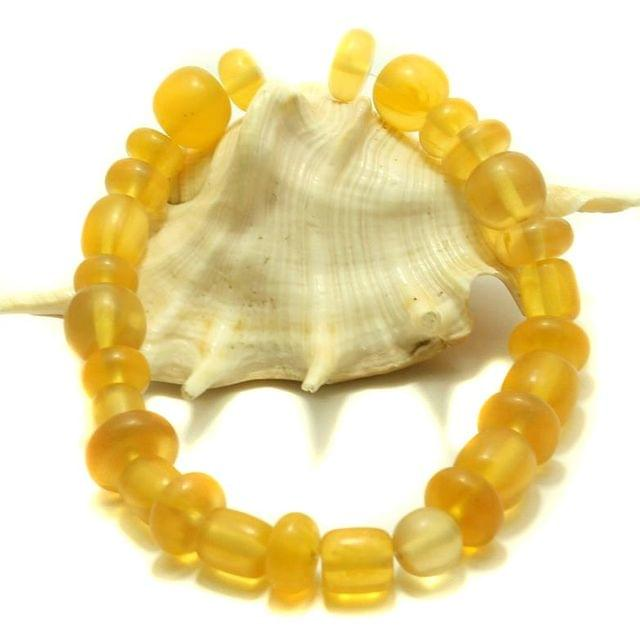 25 Resin Beads Assorted Shapes Yellow 10-20 mm